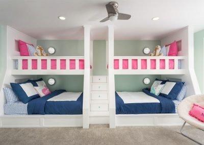 Beach dream house, childrens bedroom, bunk beds