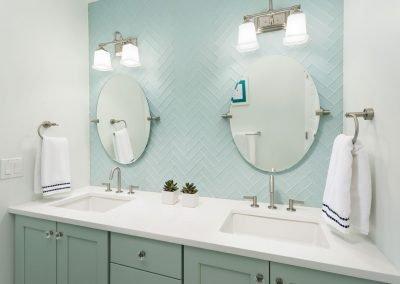 Beach dream house bathroom girls double sinks