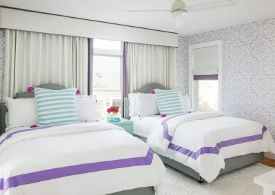 Beach Dream House girls room, lilac, twin beds
