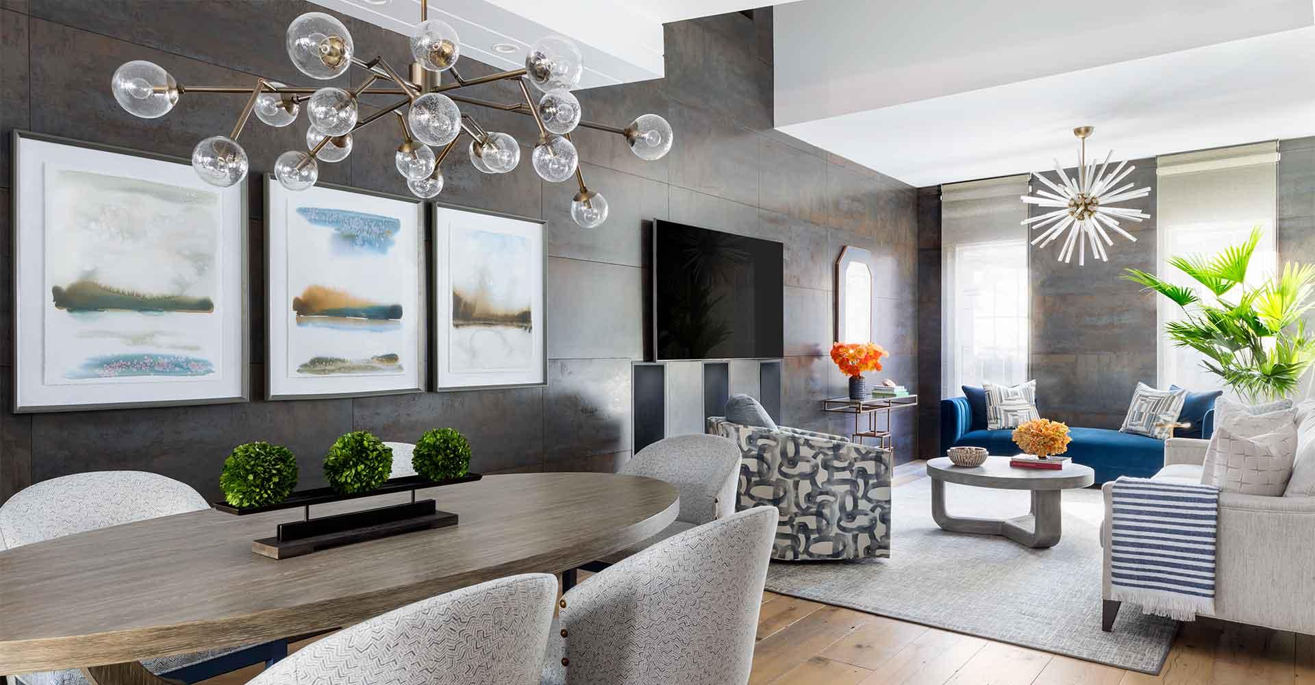 AHR Designs Hoboken Interior Design Living Room