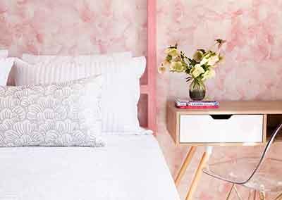 AHR Designs Hoboken Pink Bedroom