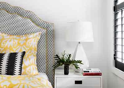 AHR Designs Hoboken Yellow Bedroom